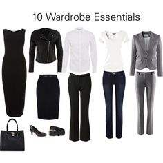 """10 Wardrobe Essentials"" by katestevens on Polyvore"