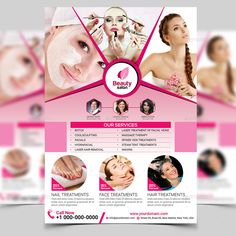 Spider Vein Treatment, Face Treatment, Spa Design, Flyer Design, Beauty Video Ideas, Wax Hair Removal, Beauty Salon Design, Cool Sculpting, Massage Therapy