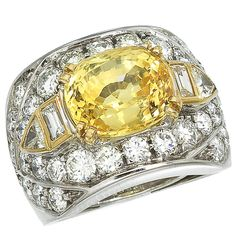 1stdibs - Yellow Sapphire Diamond Ring explore items from 1,700  global dealers at 1stdibs.com