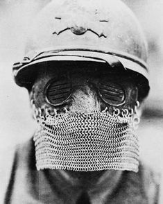 """7095 Gostos, 24 Comentários - Library Of The Bizarre (@librarybizarre) no Instagram: """"A British """"Splatter Mask"""", made to protect the wearer from shrapnel. This photo was taken in…"""" Bucket Hat, Hats, Instagram, British, Bob, Hat, Hipster Hat, Panama"""