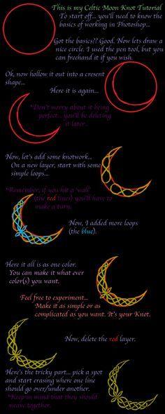 Celtic Moon Knot Tutorial by YokoRieko