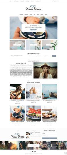 Genesis WordPress Theme, Prima Donna by GeorgiaLouStudios on @creativemarket
