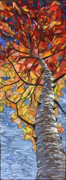 Skyward Birch-Autumn by Debra D'Souza