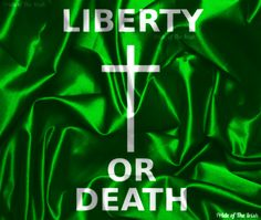 The Liberty or Death flag was flown by the United Irishmen in the Battle of Arklow, in the Irish rebellion of 1798. Strategically, the battle was a success for the Irish; they had set up various points of entry around Arklow, from which they attacked the British, even disabling an artillery post. The failure came from improper leadership by the Irish, which led to defeat. Interestingly, the British were also on the verge of defeat, having only a few rounds of ammo per soldier remaining.