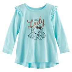 """Disney's Lady and the Tramp Baby Girl """"Little Lady"""" Graphic Tunic by Jumping Beans® 