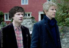 Sherlock AU where everything is the same, except John has Sherlock's hair and Sherlock has John's....*snort* wow