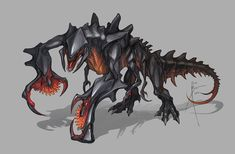 """Monster concepts done for a few SYFY films, most notably """"Sharktopus vs Whalewolf!"""" The last two are from """"Cobragator"""" And a few of these are unused! Monster Concept Art, Alien Concept, Fantasy Monster, Monster Art, Creature Concept Art, Creature Design, Alien Creatures, Fantasy Creatures, Robot Animal"""