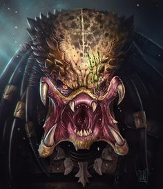 Predator by Jarkko Jakke Vanhalakka Predator Tattoo, Wolf Predator, Predator Movie, Alien Vs Predator, Arte Alien, Alien Art, Arte Horror, Horror Art, Predator Costume