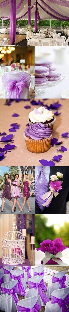 Purple wedding idea.    Repin by Inweddingdress.com    #purplewedding