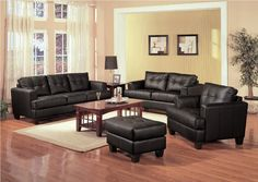 leather living room sets with curtain and photo