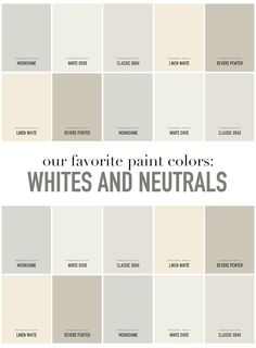 SummerHouse Designers' favorite white and neutral paint colors // www.alwayssummerblog.com
