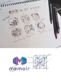 Sketches for app icons, Lobanovskiy