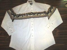 Vintage ROPER Western Shirt Men's L Cowboy Rodeo Native American Rockabilly Punk #ROPER #Western