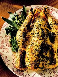 Herb-Roasted Chicken...a long-time favorite from my Better Homes & Gardens cookbook. I always replace the melted butter with olive oil.