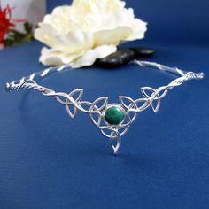 Celtic Circlets, Celtic Headpieces, Trinity Knot Circlets, Celtic Wedding, Celtic Gemstone Tiaras at Camias Jewelry Designs