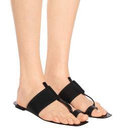 Saba Leather Sandals - Saint Laurent | mytheresa