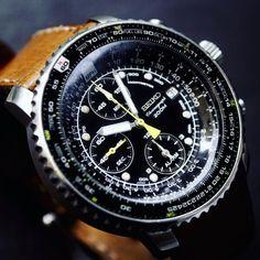 Seiko SNA411 Flightmaster chronograph alarm (2016)