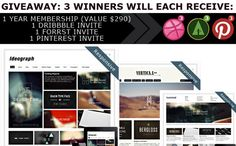 Giveaway: 3 WordPress Theme Memberships, 3 Dribbble, Forrst and Pinterest Invites