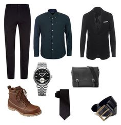 """Untitled #5"" by niken-laras on Polyvore featuring Neil Barrett, Barbour, Stephan Schneider, L.L.Bean, Raymond Weil, Burberry, DKNY, Diesel, men's fashion and menswear"