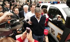 """George Clooney was arrested along with his dad and other anti-Sudan activists.   """"We need humanitarian aid to be allowed into the Sudan before it becomes the worst humanitarian crisis in the world,"""" Clooney told reporters just before his arrest."""