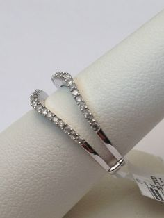 NEW 1/4ct Prong Set Solitaire Enhancer Diamonds Ring Guard Wrap 14k White Gold