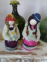 Resultado de imagen para como se hace muñecas en vellon: