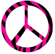 peace sign | pink zebra peace signs graphics and comments