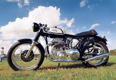 """Jerry Romano's """"Square Norton"""" - an Ariel-Norton hybrid. Photo and article by Robert Smith, Motorcycle Classics March/April 2010. Read more about this custom classic bike at motorcycleclassics.com."""