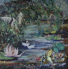 Horses by the Pond is a 36x36 arylic on canvas painting.  *For all of 2015 100% of the profits from the Avonelle Kelsey Gallery print sales will automatically be donated to Hundehilfe Thailand.