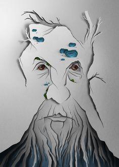 水墨画すらも紙で再現!立体感がステキな「ペーパーアート」の世界。 : ぁゃιぃ(*゚ー゚)NEWS 2nd