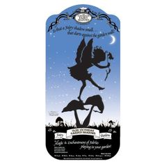 Olde Victorian 380150 Garden Fairies, Flitterby, Black by Olde Victorian. $14.99. Measures 7-inch width by 15-inch height. Individually hi-def cut from thick gauge steel. Ground stake attached for use in flower pot or garden bed. Available in black color and flitter by design. Powder coated black for indoor and outdoor use. Imagination and fantasy forged in steel. Recreated in shadow form as seen from a child's eyes, the enchantment and wonder of the fairies can beco...