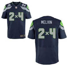 Seattle Seahawks Customized Game Team Color Jersey   2x4 Melvin You can add  any equation on 36e378fff