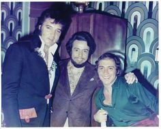 Elvis Presley photographed with Paul Anka and Sergio Mendez in Las Vegas, NV sometime in August/ September 1972. Also take  a look at: http://www.elvis-collectors.com/candid-central/anka72.html