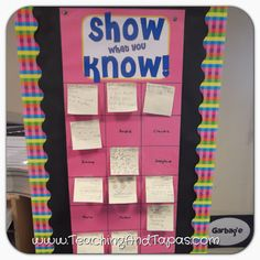 Teaching and Tapas: 2nd Grade in Spain: Show What You Know! Post-it exit slips go on top of the student name. PERFECT for accountability during reading workshop