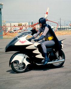 Batman Adam West Bat Cycle Rare Photo Or Poster