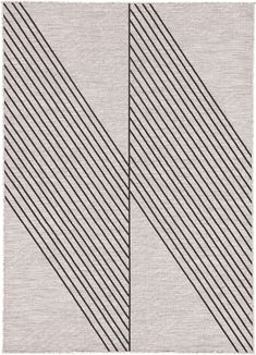 Bold and graphic, the Decora collection designed by Nikki Chu offers compelling geometric appeal to indoor and outdoor spaces. An angular linear design gives the Cyrene rug a strikingly modern look, handsome and sleek with a black on light gray colorway. This polyester accent is durable and weather-resistant, perfect for high-traffic areas and outdoor living.