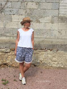 Drawstring Shorts - mojoanma , True Fabrics, Nähen, Damen, Batik, Stoff aus aller Welt, #nähen #mojoanma