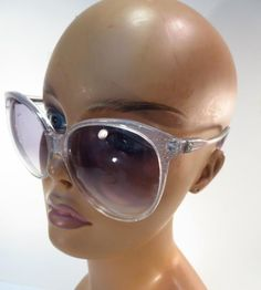 323f5d96a62 Vintage Anne Klein 80 s Confetti Lucite Over-sized Gradient Tint Sunglasses     AnneKlein Anne
