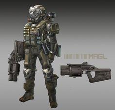 ArtStation - sifi soldier , Jon Kuo