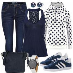 Freizeit Outfits: Gepunktet bei FrauenOutfits.de