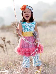 Giggle Moon  Mustard Seed Tutu Dress & Capri