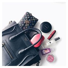 """@an.mut - """"What's in my bag"""" thing... - Pikore ❤ liked on Polyvore featuring beauty products"""