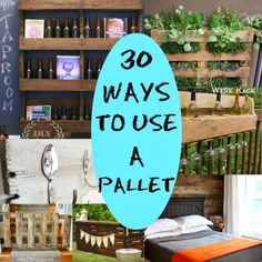 30 Ways to use a Pallet.  #DIY Round Up