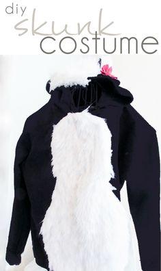 DIY Skunk Costume, D