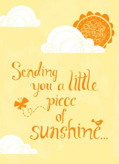 Orange Little Sunshine Get Well Card