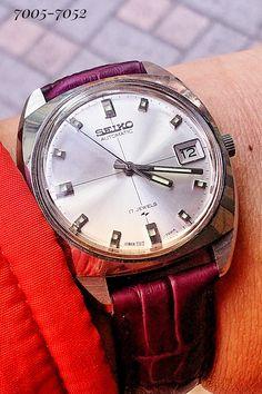 Seiko 7005-7052 Seiko Automatic, Automatic Watch, Vintage Watches, Quartz Watch, Omega Watch, Fashion, Clocks, Accessories, Moda