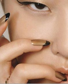 a french manicure with a twist