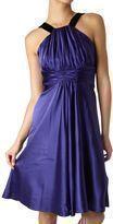 Designer LINEA Velvet Trim Prom Party Evening Dress