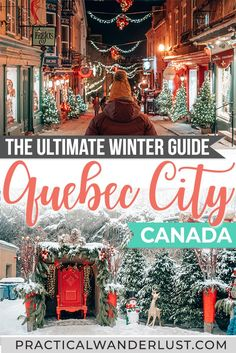 The ultimate guide to Quebec City things to do in the winter, from maple syrup taffy to snowboarding to toboggan rides to Christmas Markets to thermal spas! Here's everything you need to know to plan your Quebec City winter trip. Quebec City Christmas, Canada Christmas, Christmas Travel, Holiday Travel, Christmas Markets, Christmas Vacation, Christmas Décor, Toronto Canada, Canada Ontario