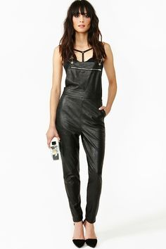 be829838d43d Push It Overalls Leather Overalls